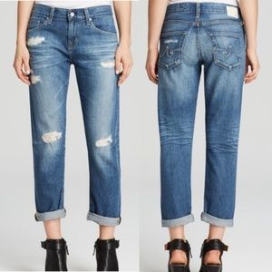 SALE AG The Ex-Boyfriend Slim Distressed Jeans